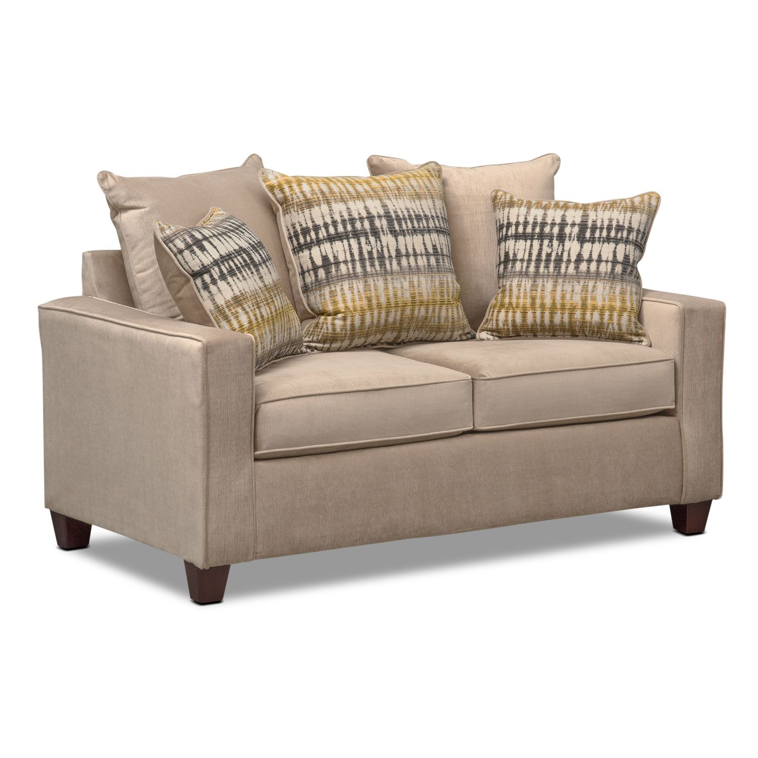 Living room furniture bryden sofa loveseat and chair set beige