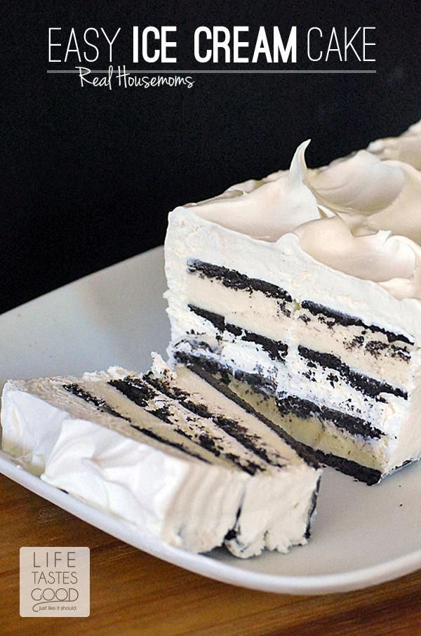 "Easy Ice Cream Sandwich Cake | Real Housemoms #""icecreamdessertseasy"" #icecreamsandwich"