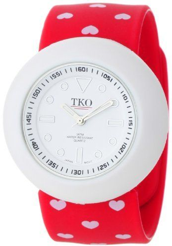TKO ORLOGI Women's TK590-HRD Red Heart Valentine Slap Watch