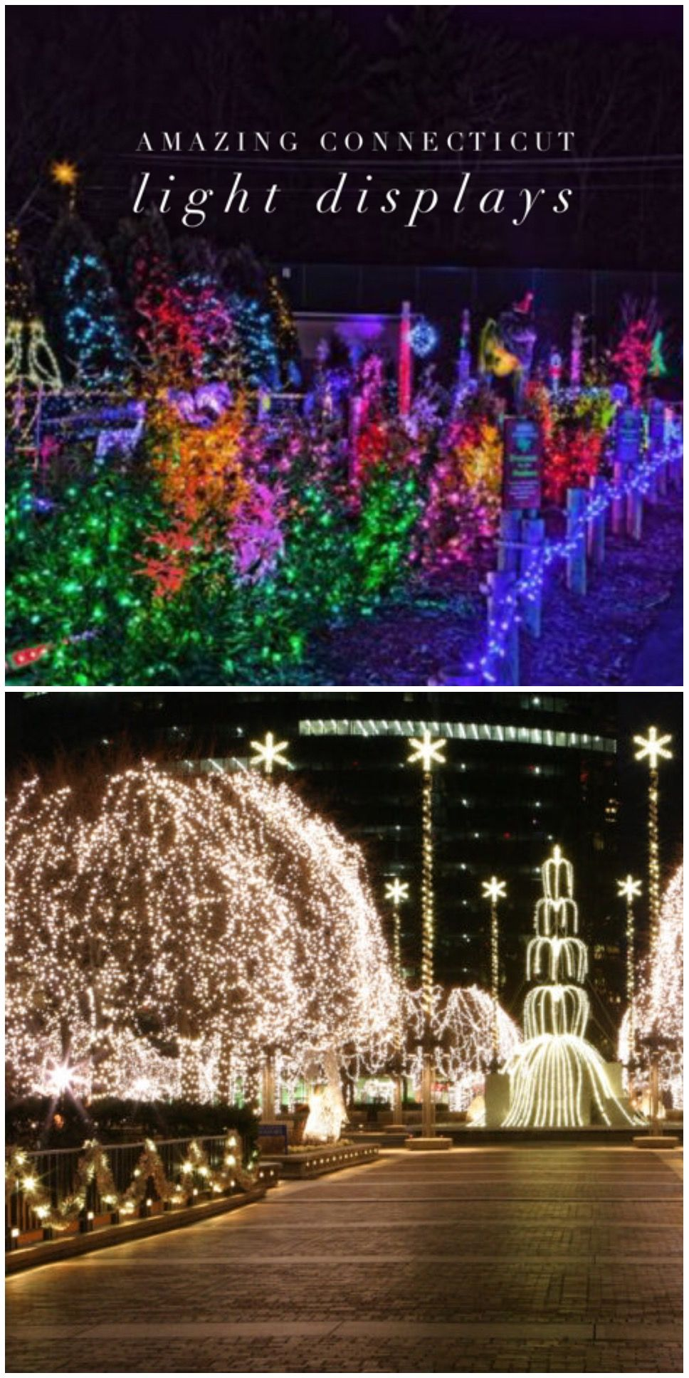 Travel | Connecticut | Only In Connecticut | Light Displays | Day Trip |  Evening Activities | Things To Do | Christmas