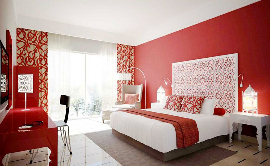 Camera Letto Colore Pareti Rosse 1 | Colorful & fun interior ideas ...