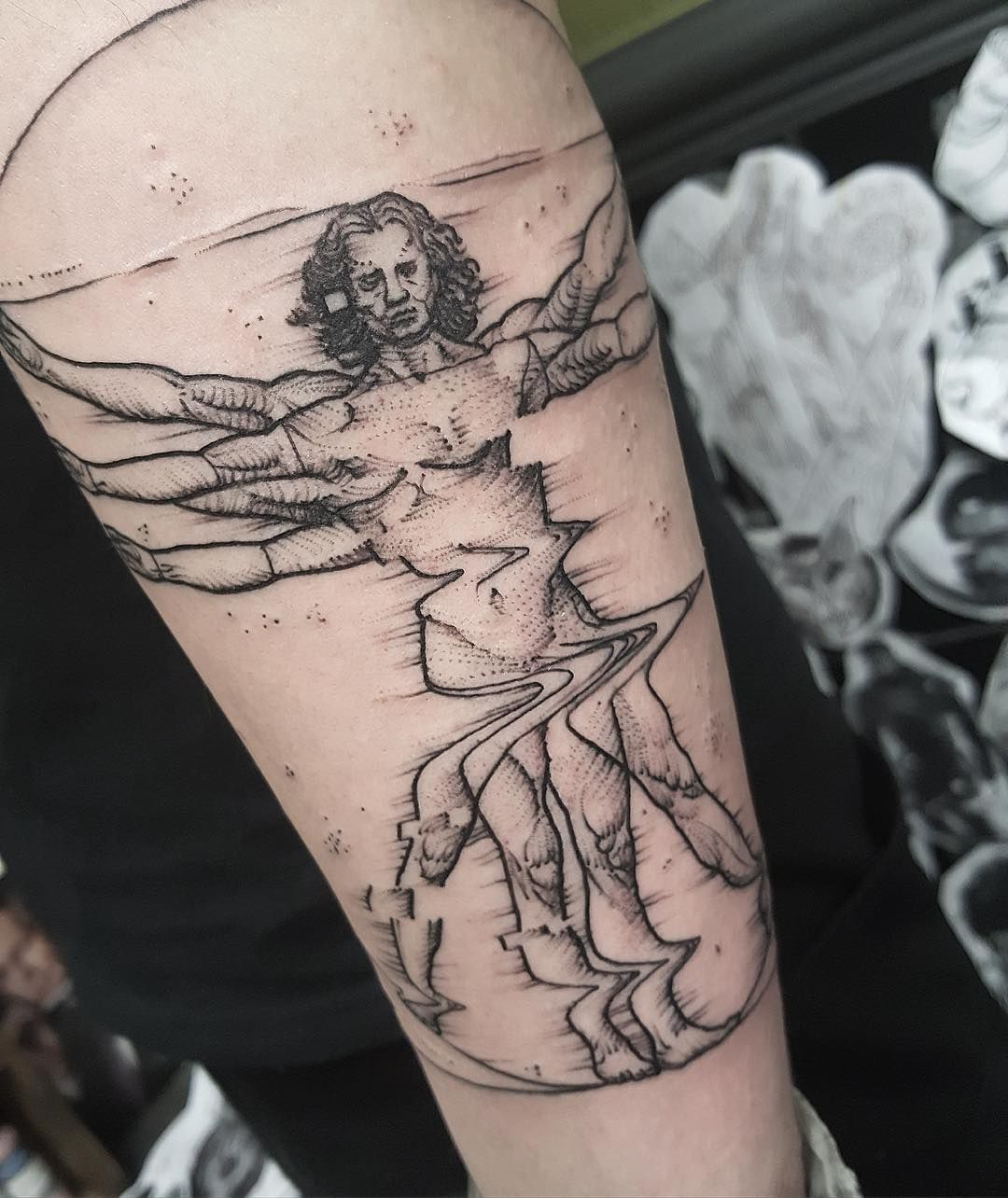 Tattoo Ideas Quick: A Quick Vitruvian Man From The Other Day. Thanks Mauro