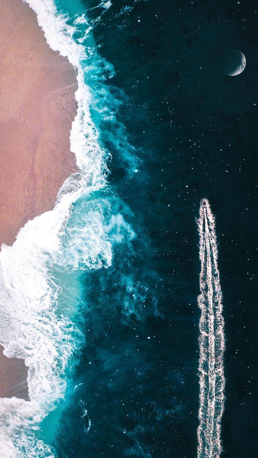 Sailing through space | Wallpaper | Обои с океаном, Обои фоны, Фоновые изображения
