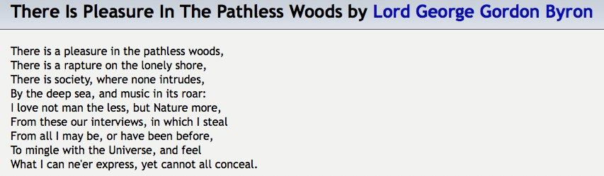 poem by Lord George Gordon Byron