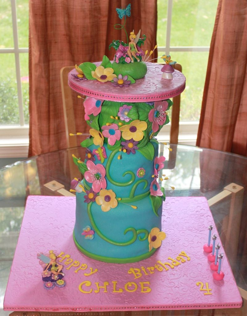 The Tinkerbell cake we ended up with.