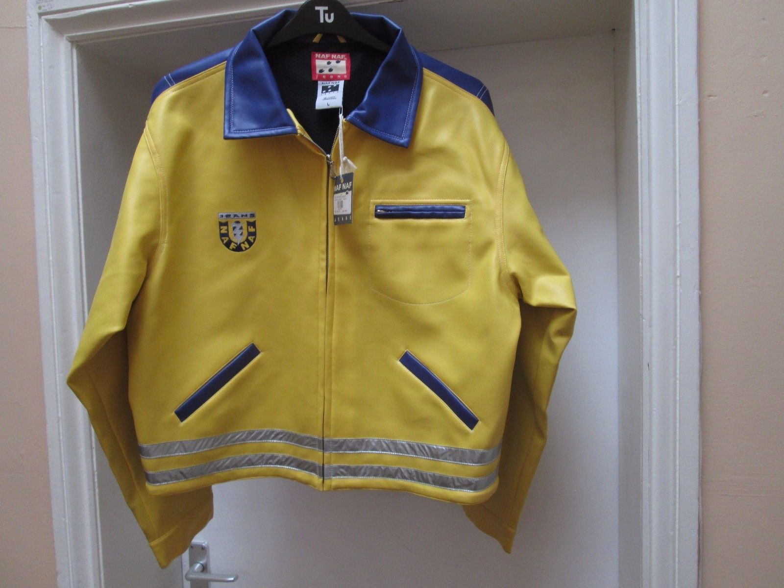 ed5bd8b49ff8a NWT Authentic Retro Vintage Mens Naf Naf Vinyl Coloured Bomber ...
