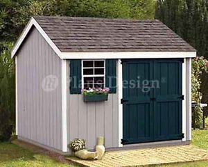 Garden Sheds 10 X 8 shed plans 8 x 10 storage utility garden building blueprints