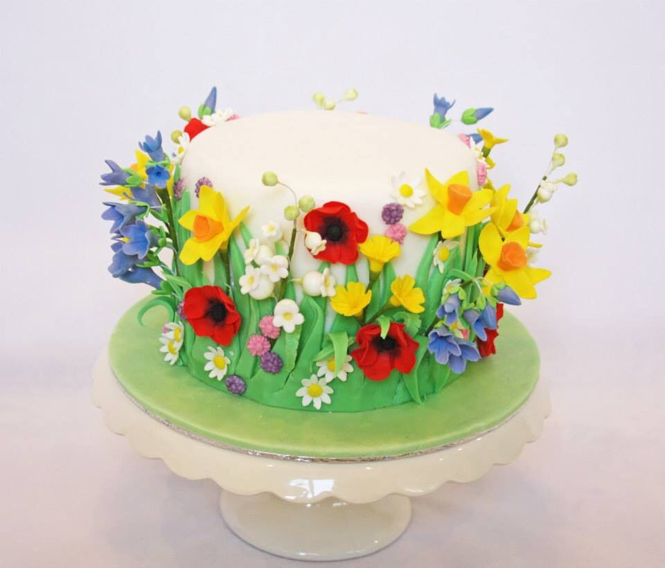 Spring Flowers Meadow Cake Cake Was Only 6 So Made It Three