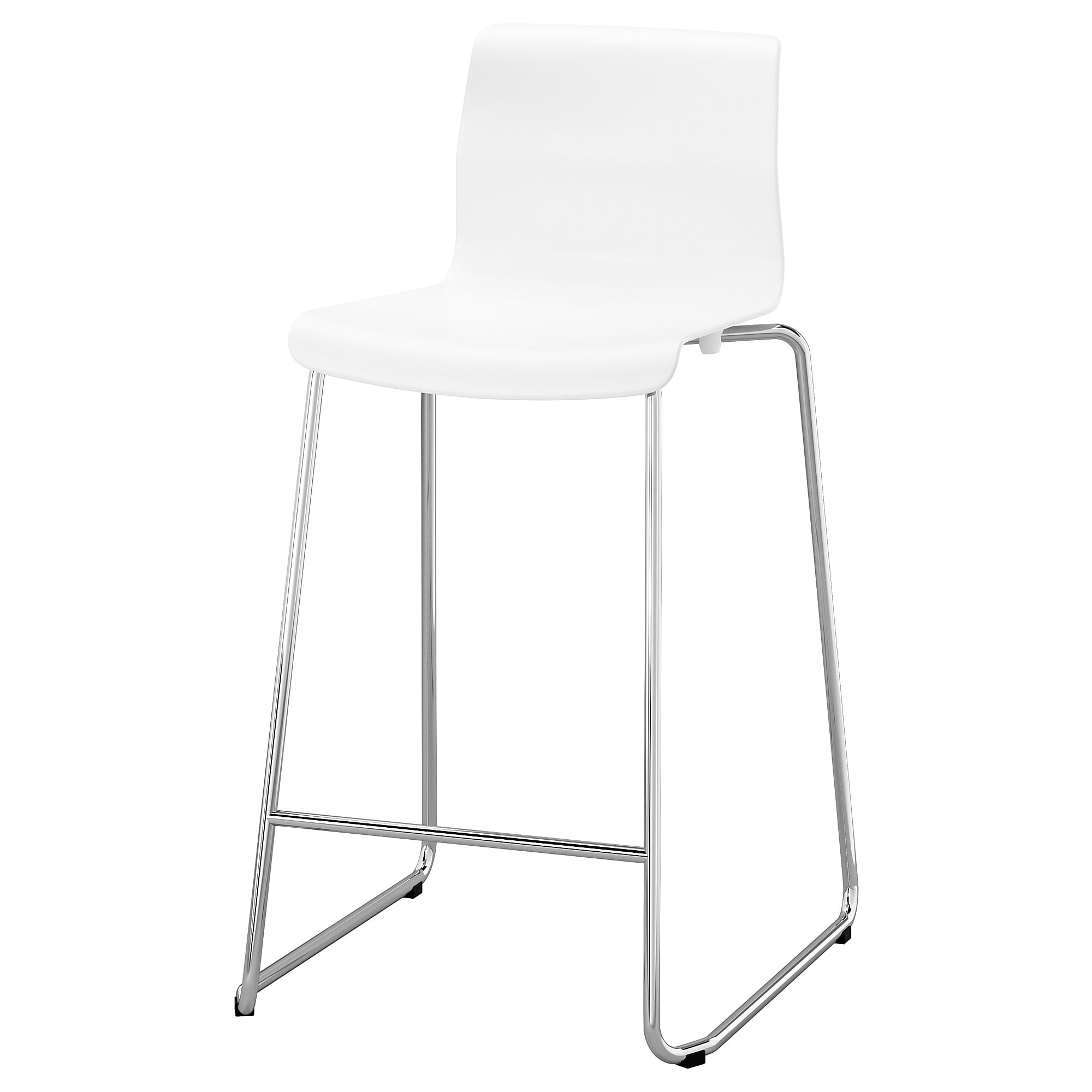 GLENN Bar stool, white, chrome plated, 26 IKEA   Chrome