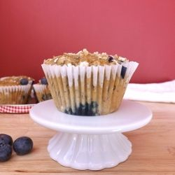 Skinny Banana and Blueberry Muffins {recipe}