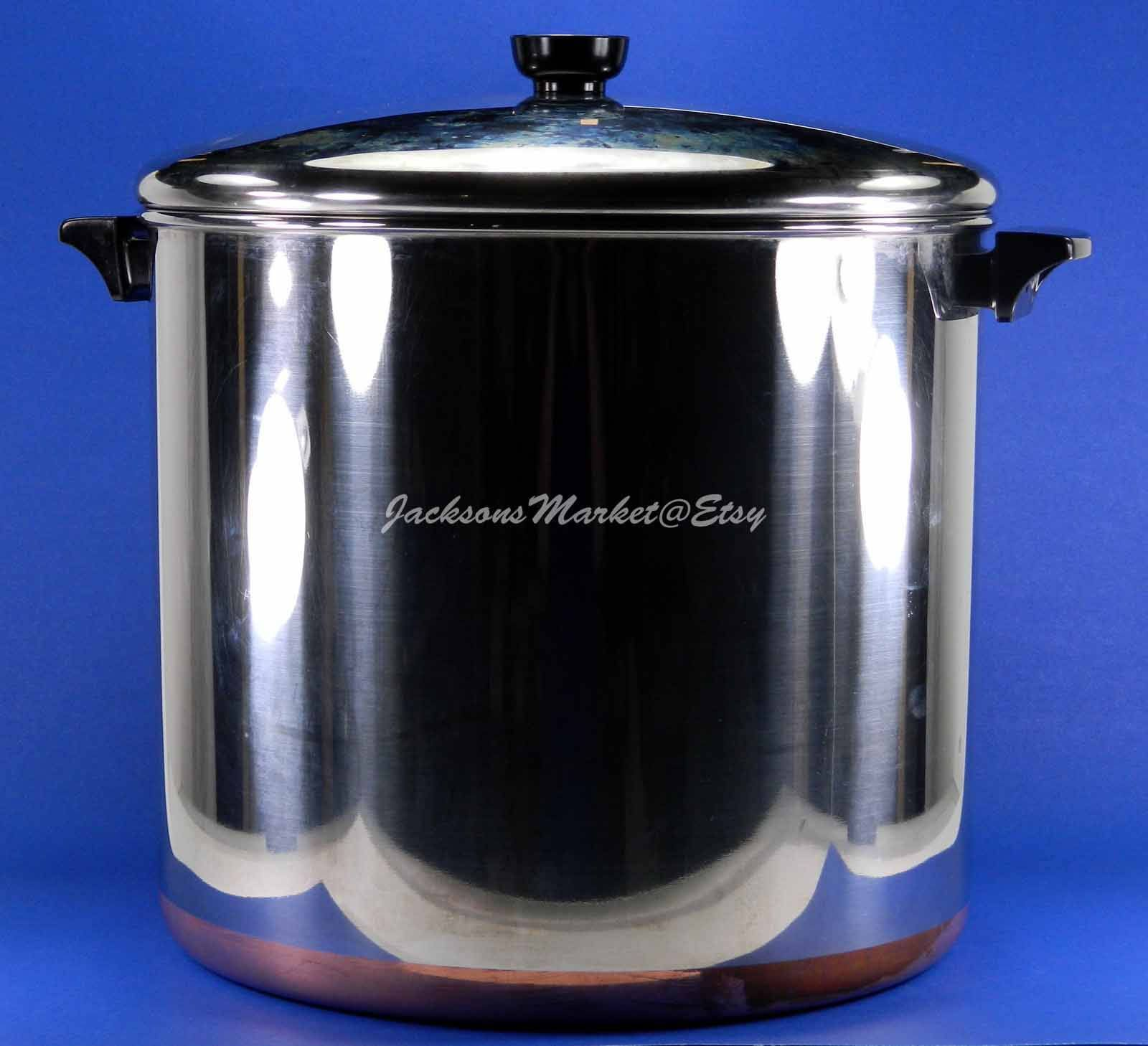 Revere Ware 20 Qt Super Pot Stockpot Copper Clad Stainless Steel