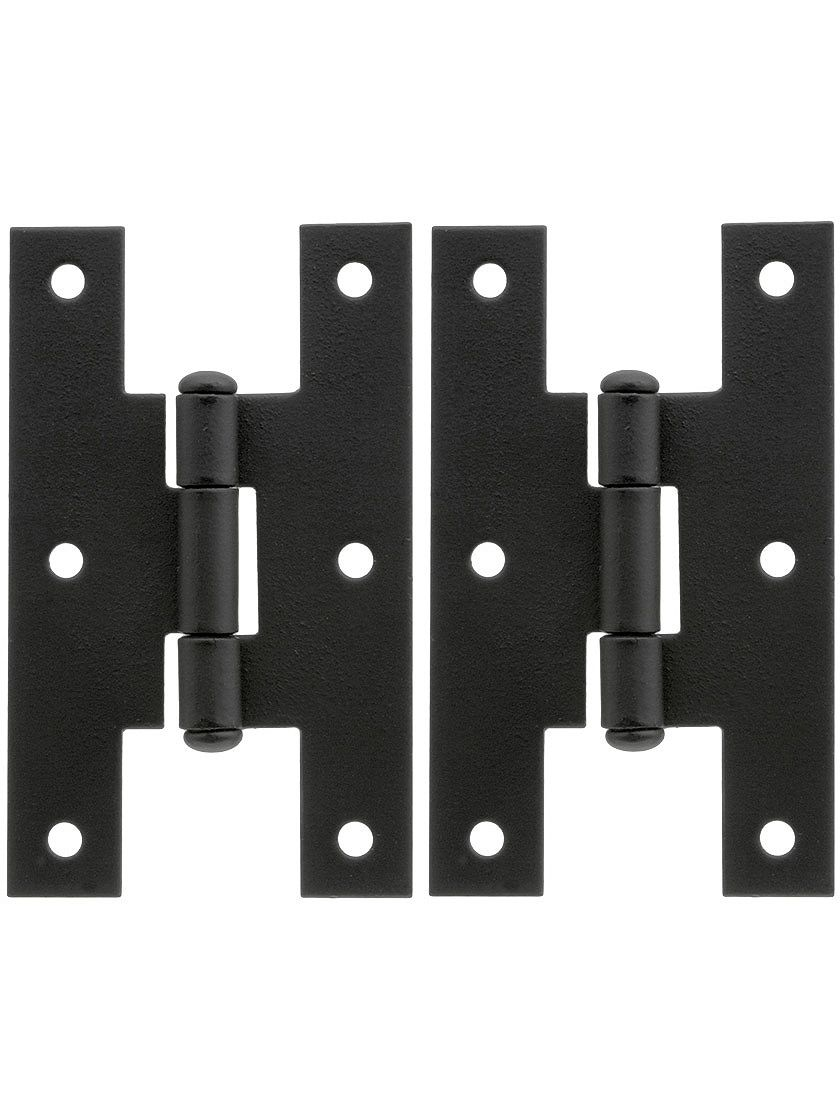 Pair Of Forged Iron H Style Cabinet Hinges 3 H X 1 3 4 W Antique Hinges Cabinet Hinges Hinges