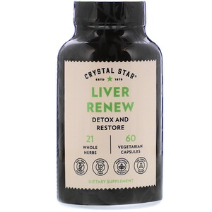 Crystal Star Liver Renew 60 Vegetarian Capsules Iherb Crystal Stars Vegetarian Muscle Relaxer