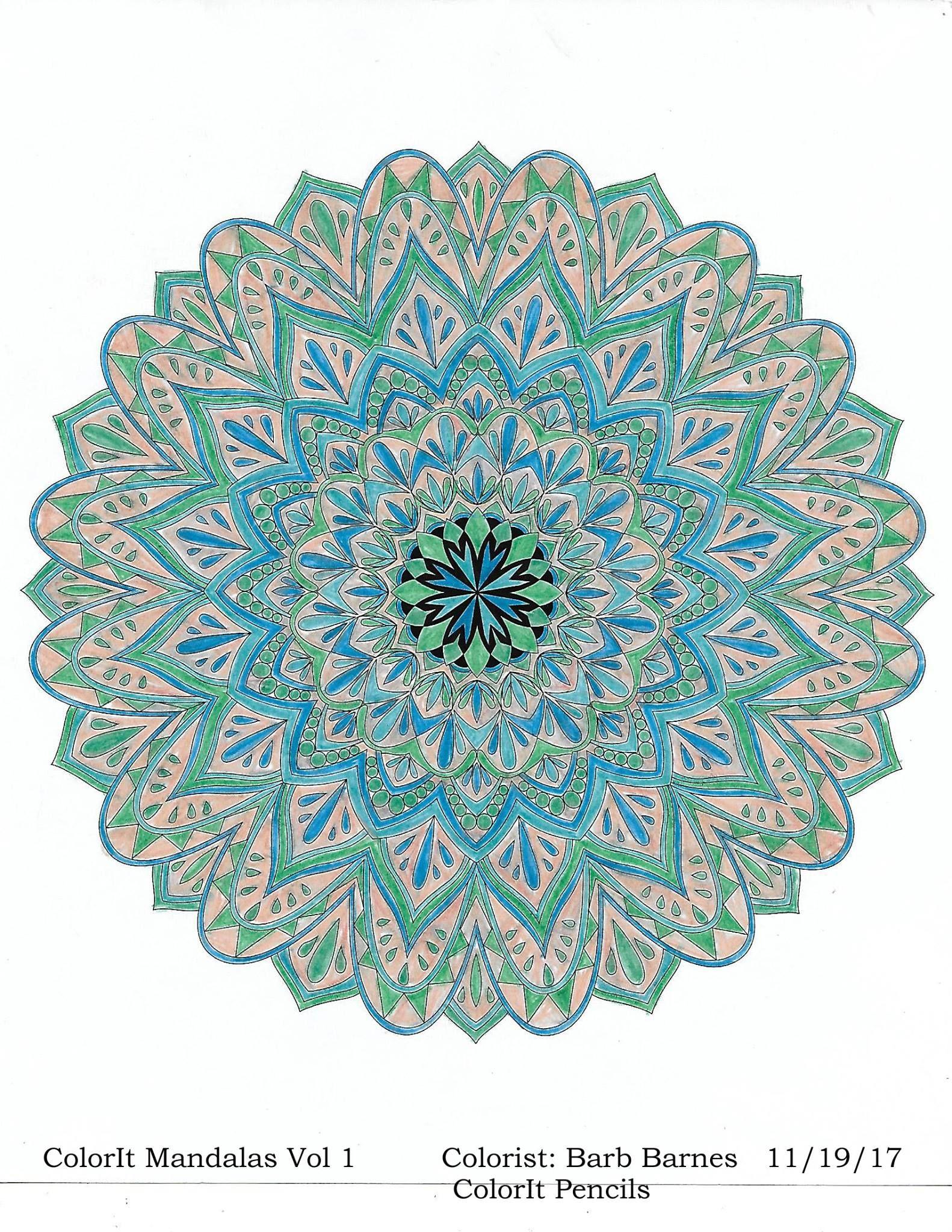 Colorit Mandalas To Color Volume 1 Colorist Barbara Barnes Adultcoloring Coloringforadults Mandalas Mandalastocolor Mandala S Tekenen