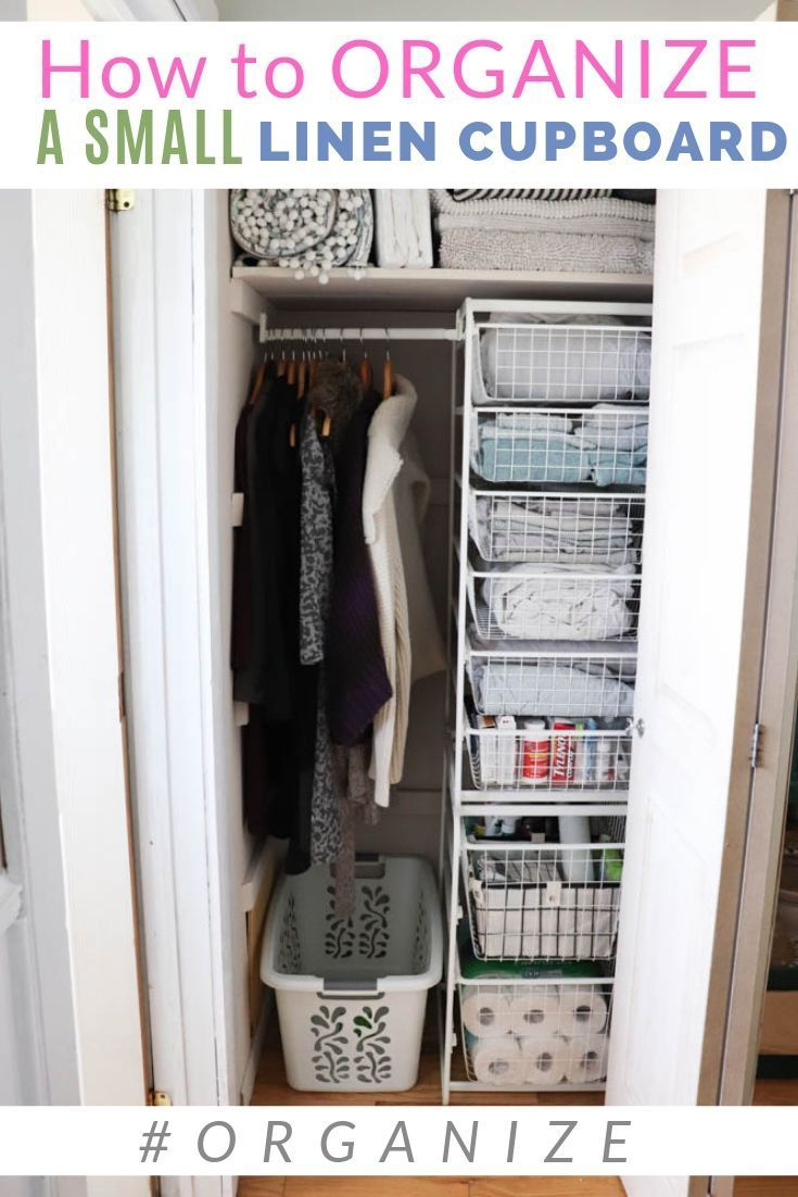 How To Organize A Small Linen Closet IKEA hack that will make a ...