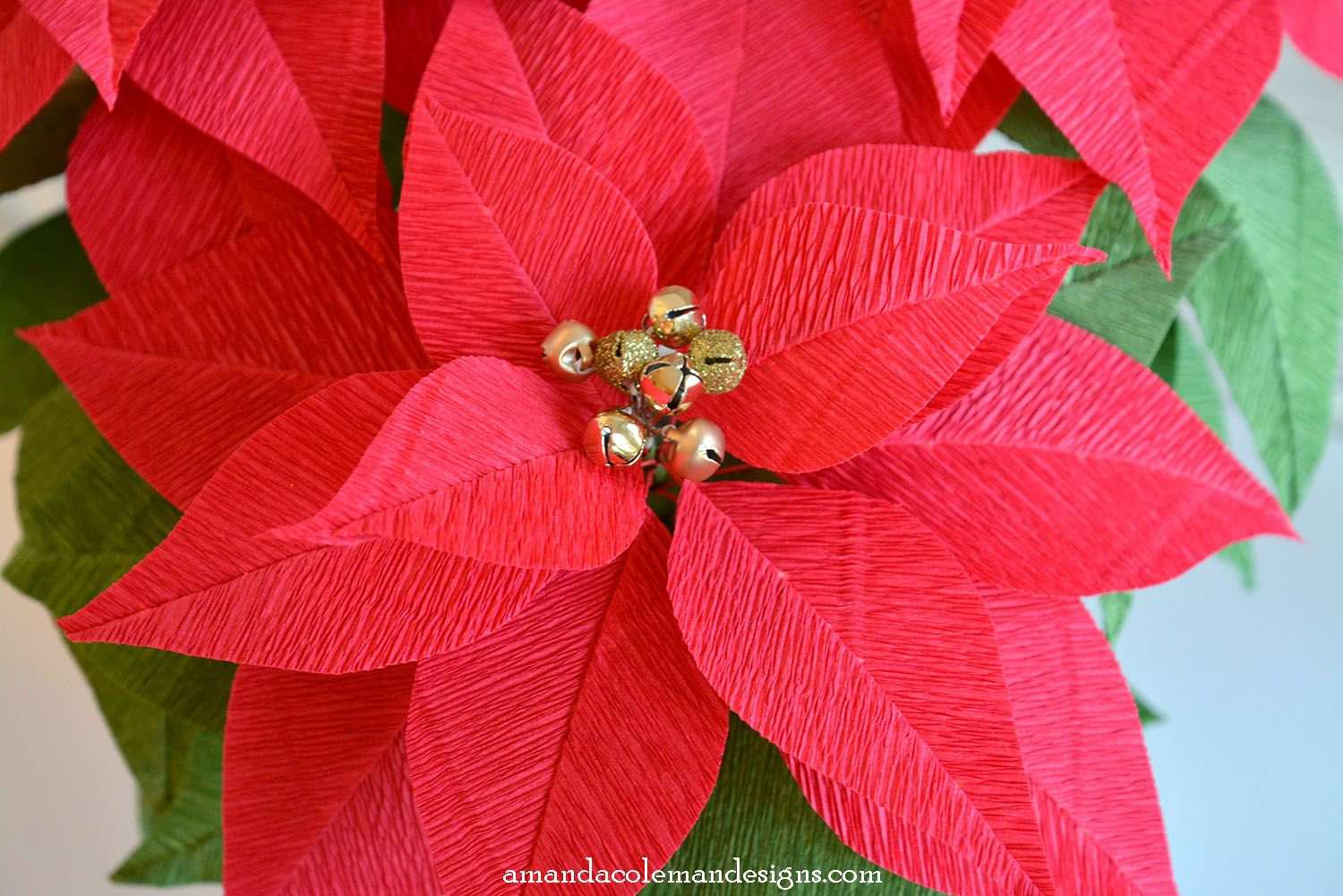 Diy Crepe Paper Poinsettia Beautiful Bricolaj Crepe Paper