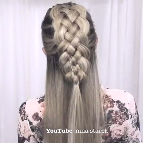 Braids Braiding Hairstyle Braids Videos Frisuren Braided Hair Style In 2020 With Images Long Hair Styles Hair Styles Viking Hair