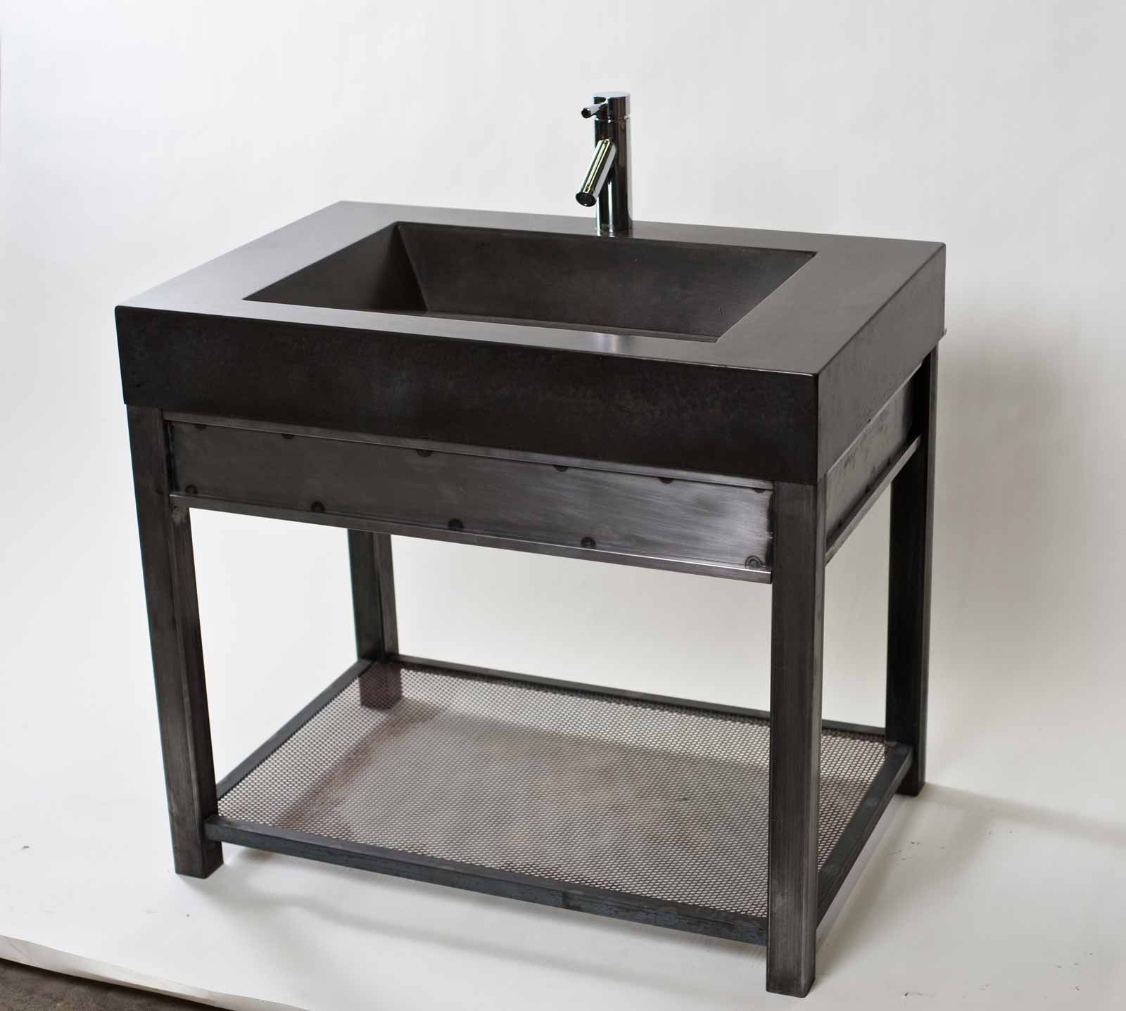 steel vanity from www concreteseven custom bath 18031