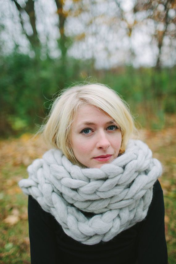 Chunky Infinity Scarf by connectionknits on Etsy, $140.00
