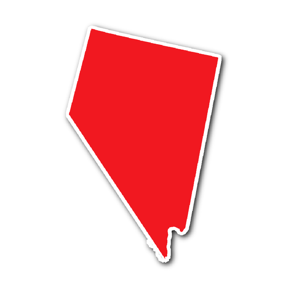 Nevada State Shape Sticker Outline Red Nevada State State Shapes Nevada
