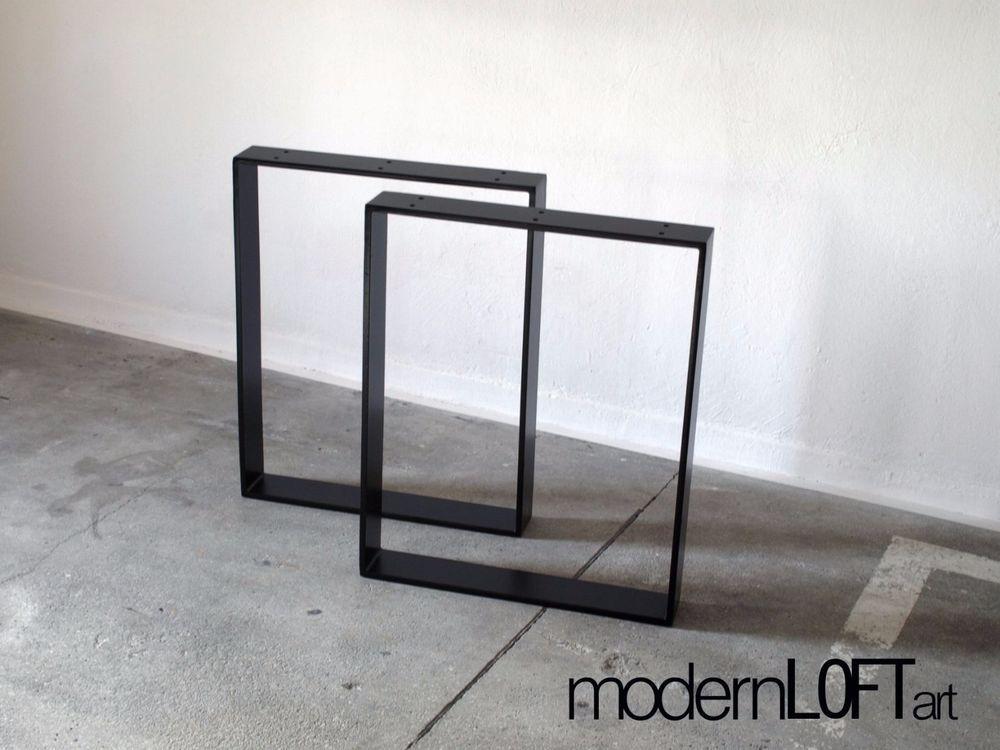 Industrial Tisch tischbeine tischgestell tischkufen tischfüße stahl schwarz