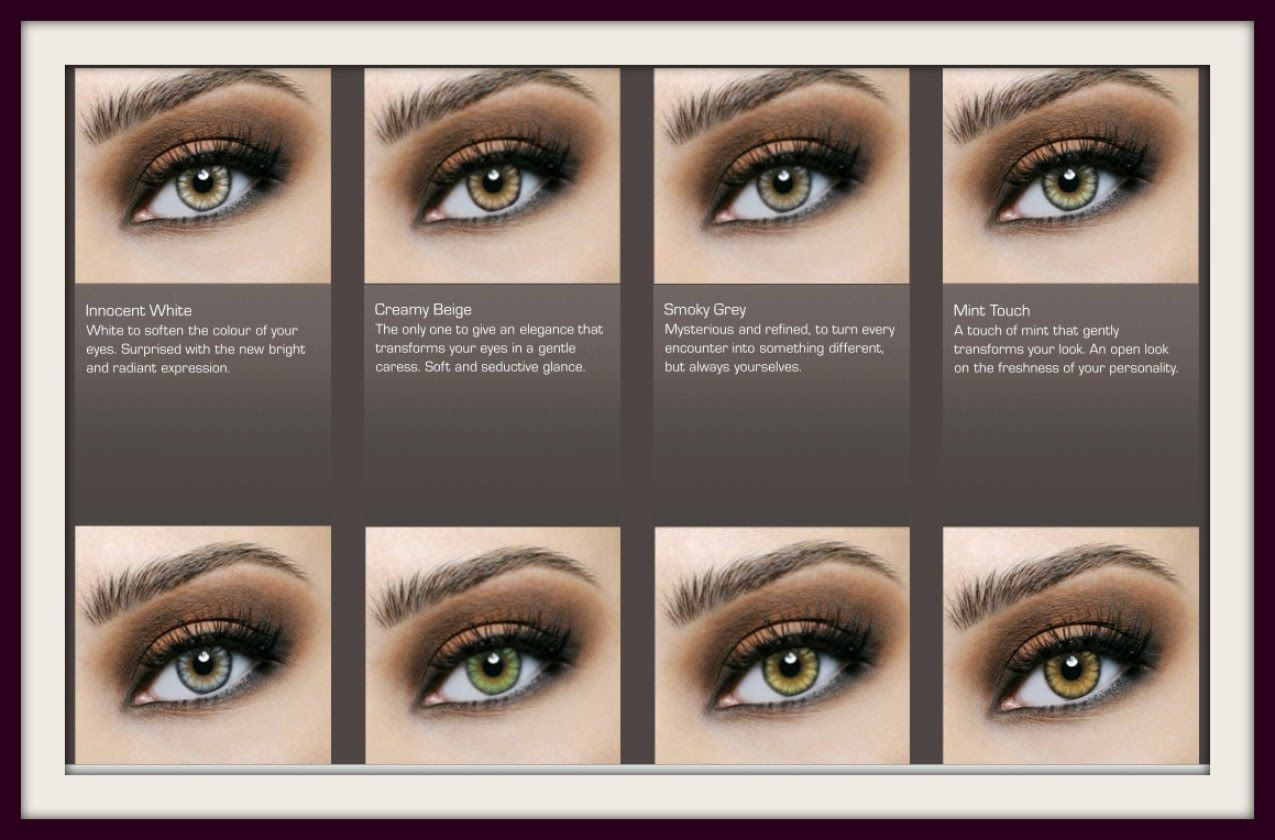 Desio Contacts Demo All 8 Colors On Dark Eyes Colored Eye Contacts Contact Lenses For Brown Eyes Desio