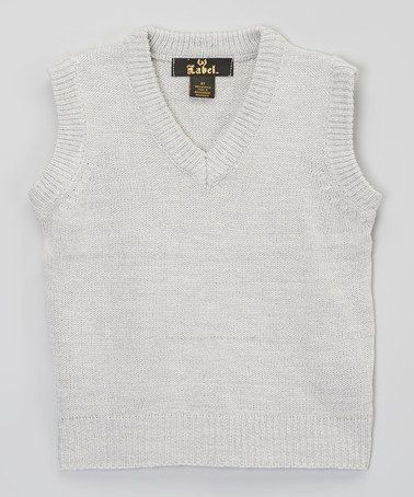 Love this Gray Sweater Vest - Boys by X Label on #zulily! #zulilyfinds