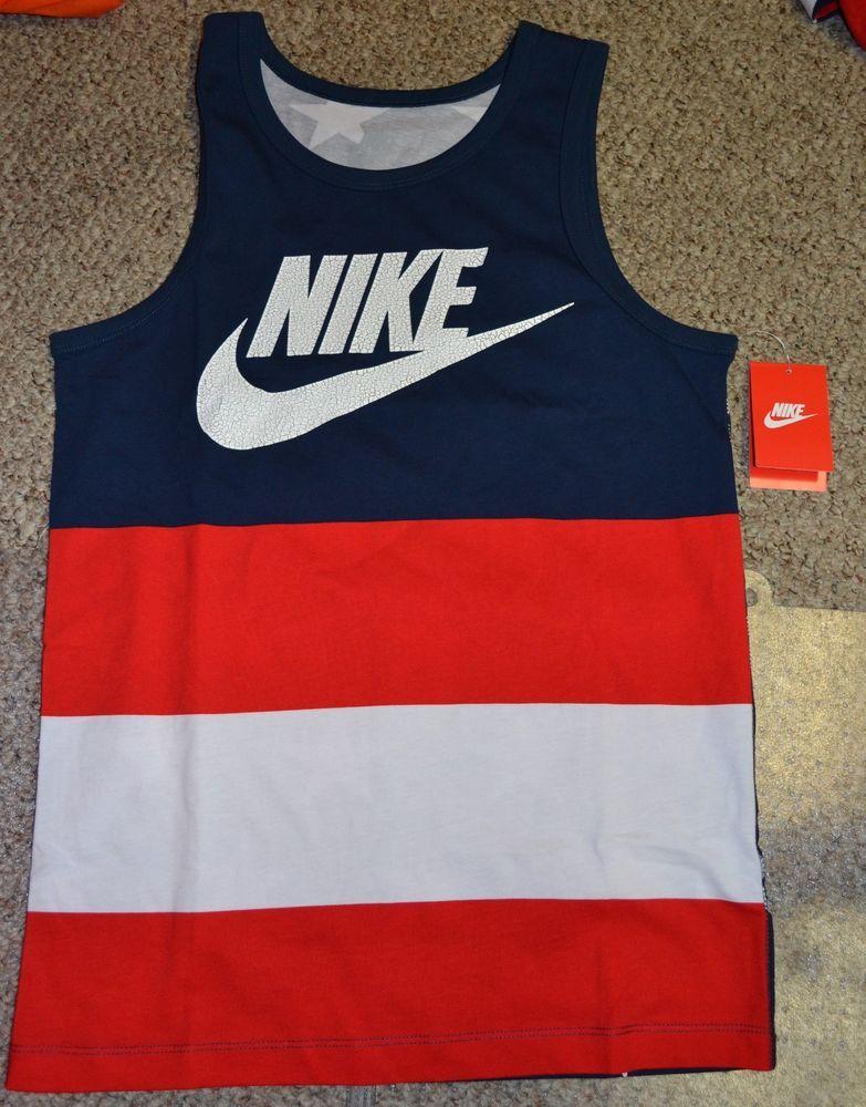 Nike Quick Strike Murcia Tank Top 100% Authentic USA Stars Stripes QS  658106 410