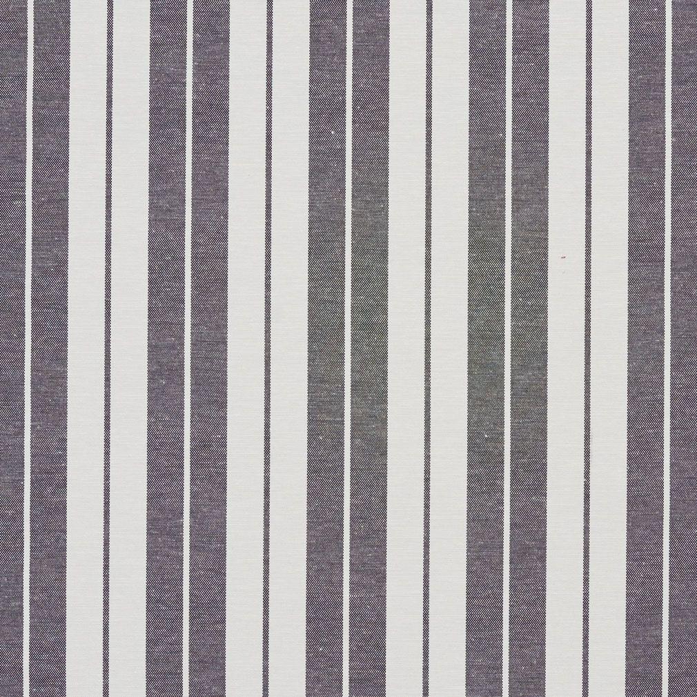 onyx black and white small stripe denim upholstery fabric