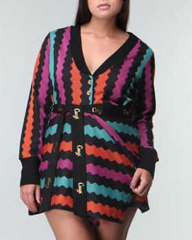 $108.00 Coogi Plus Size Sweater Print Dress | Curvy Fashion/ My ...