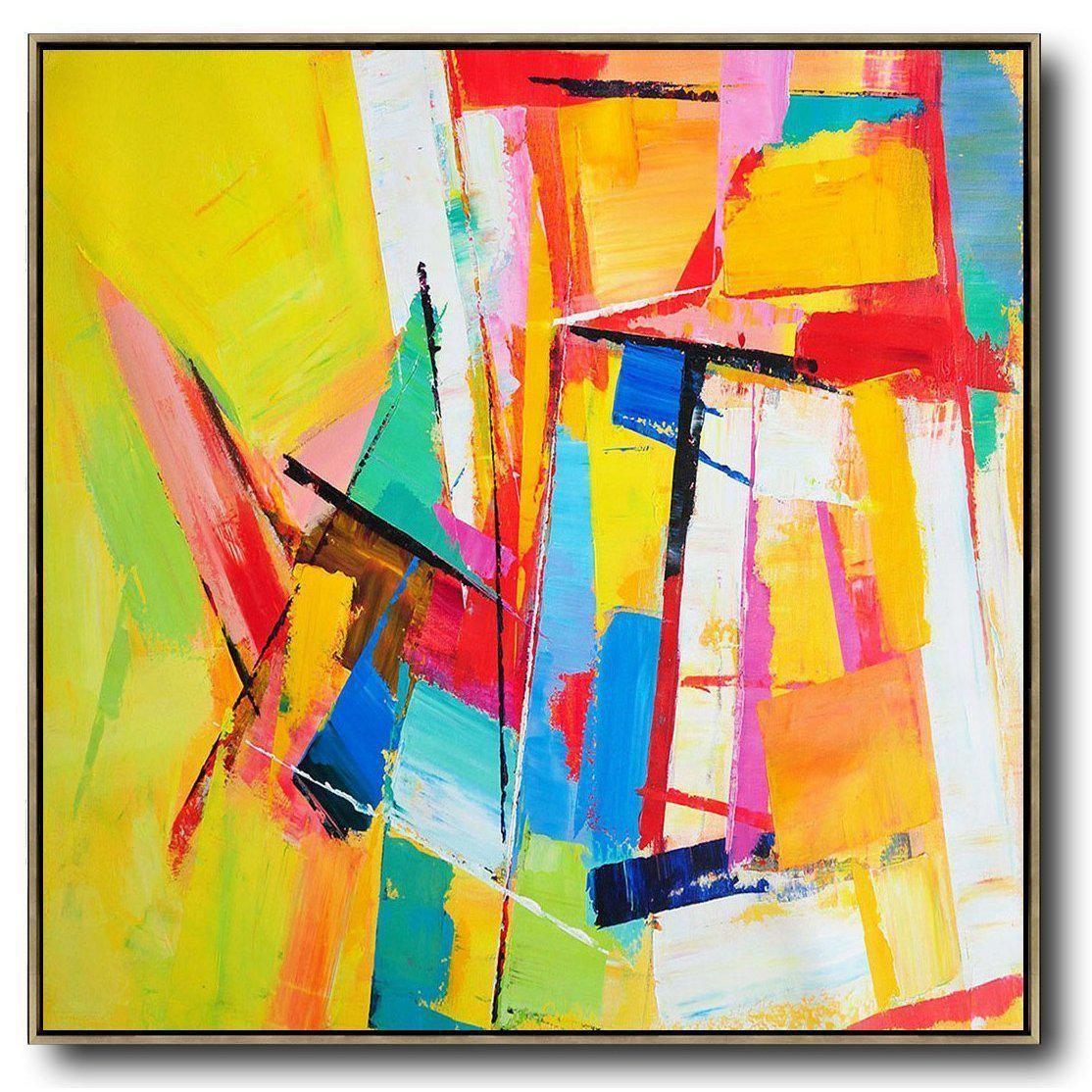 Palette Knife Contemporary Art C43a Art Abstrait Facile