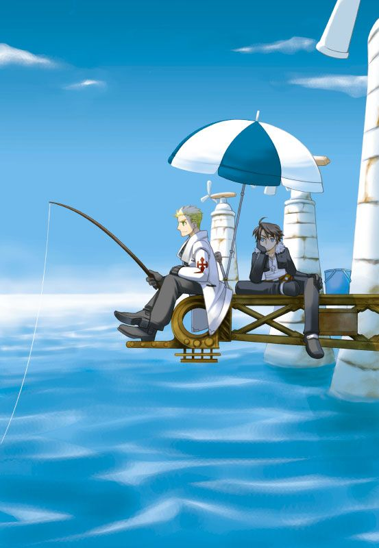 Beauty and Fishing by カスガ- Final Fantasy VIII - Seifer / Squall -   http://www.pixiv.net/member.php?id=3474719