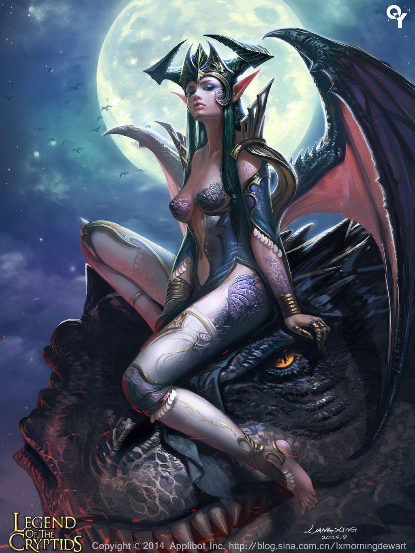 (Drakeblood) Leolina, Dragon Mystic , by Liangxing , Card