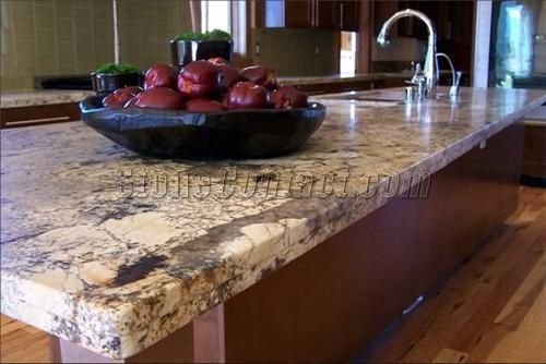 Honed Desert Amarillo Granite Kitchen E Pinterest