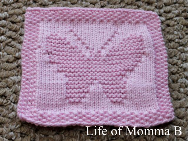 Butterfly Dishcloth | Knit Baby Blankets | Pinterest | Tejidos de ...
