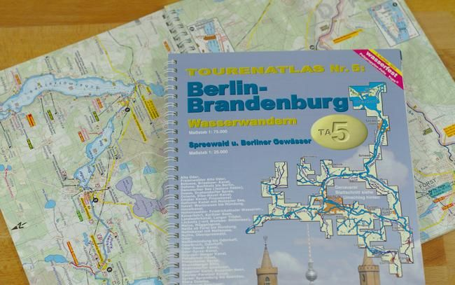 Tourenatlas Ta5 Gewasser Atlas Fur Berlin Brandenburg Mit