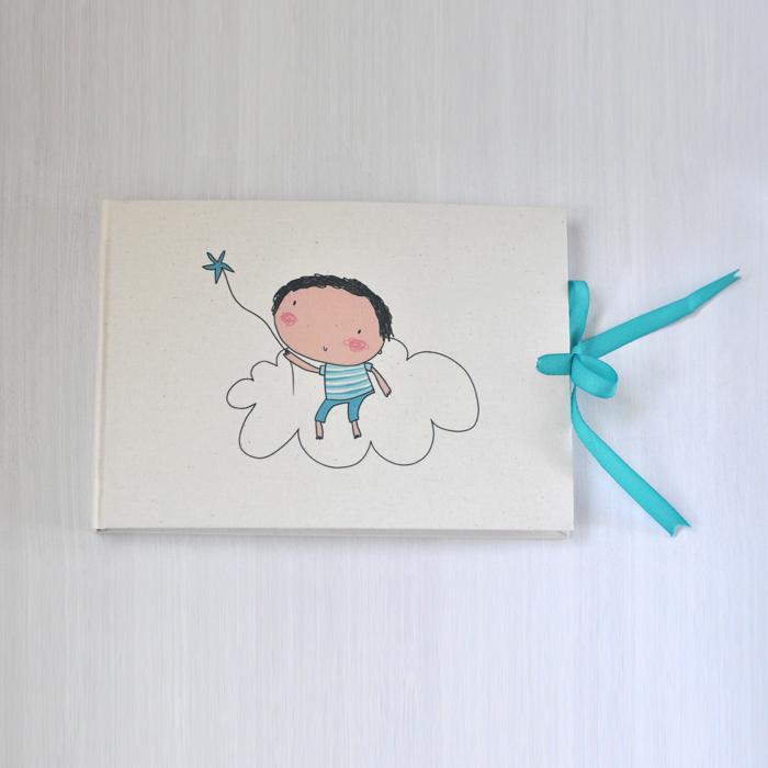 Image of libro de firmas niño/a  nube