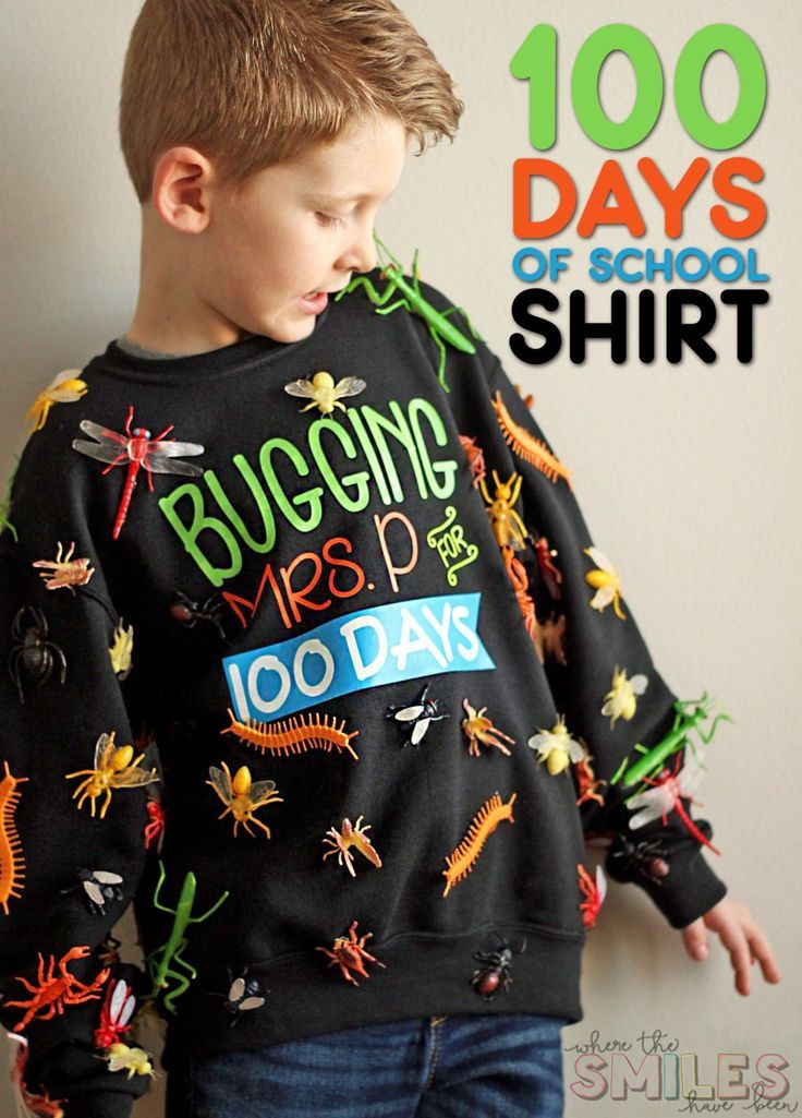 100 Days of School Shirt Idea: 'Bugging' My Teacher