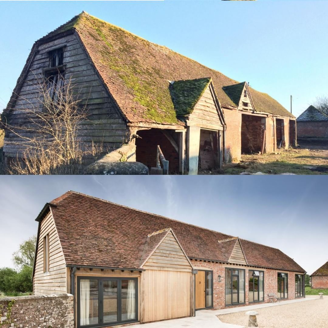 Love A Before And After Pic! This Is A Barn Conversion We