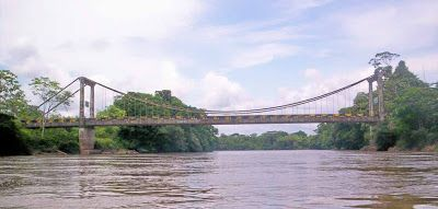 The bridge between San Miguel Colombia and La Punta Ecuador is for passengers and light vehicles only.