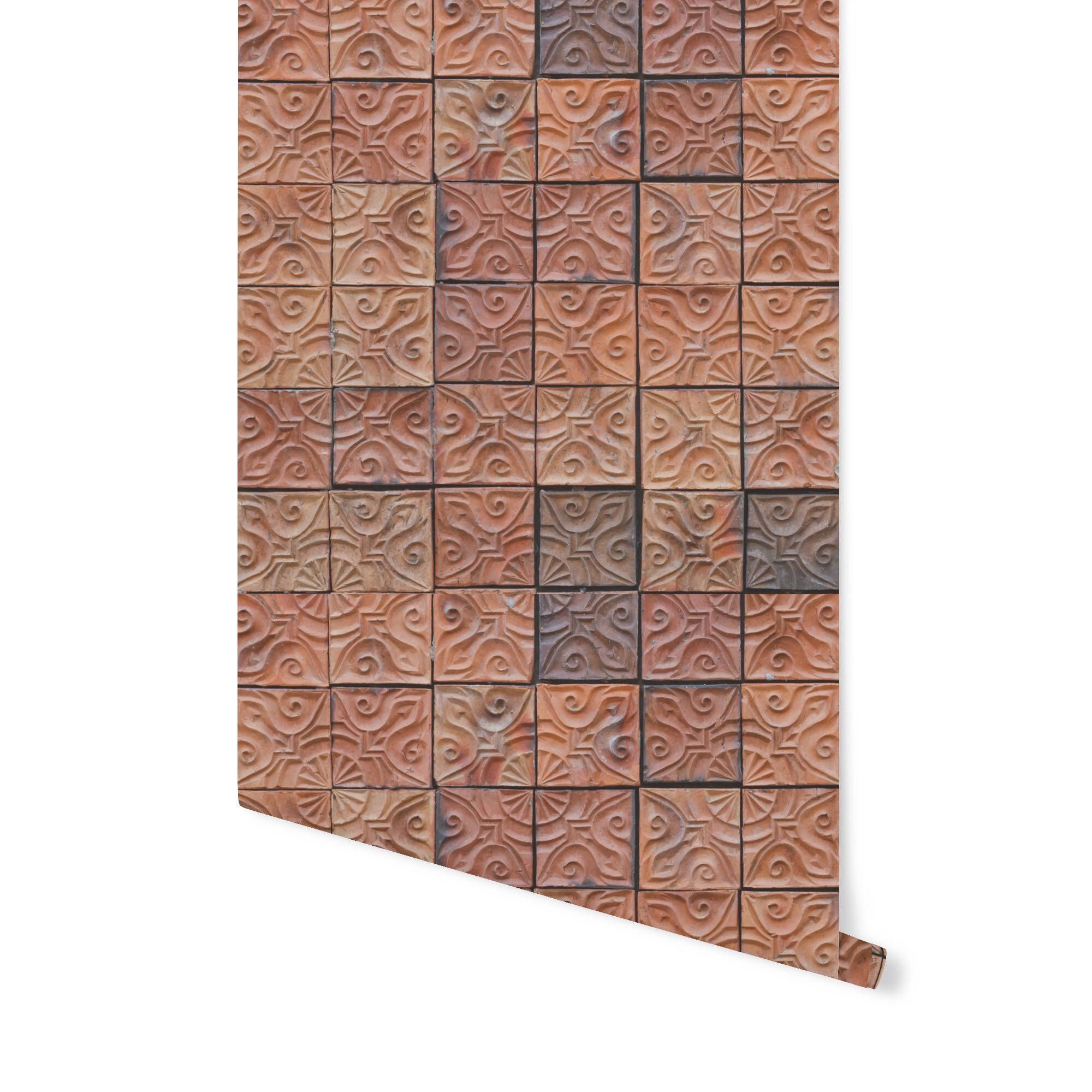 Removable Wallpaper CLAY TILES Simply Peel and Stick