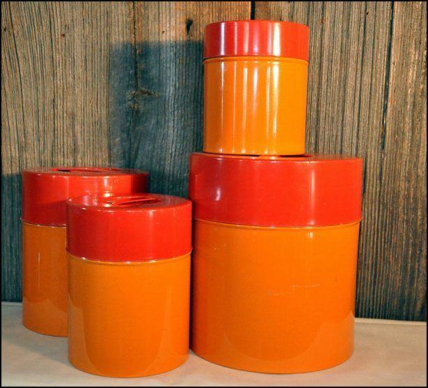 Kitchen Burnt Orange Canisters