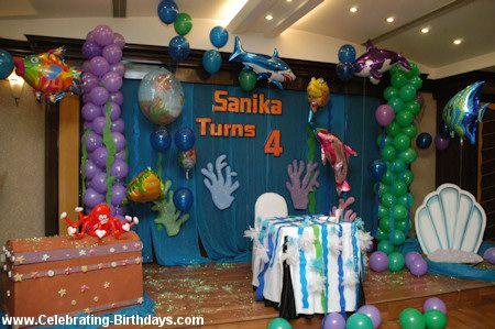 Mermaid Birthday Party Backdrop Decorating Mermaid Birthday Party