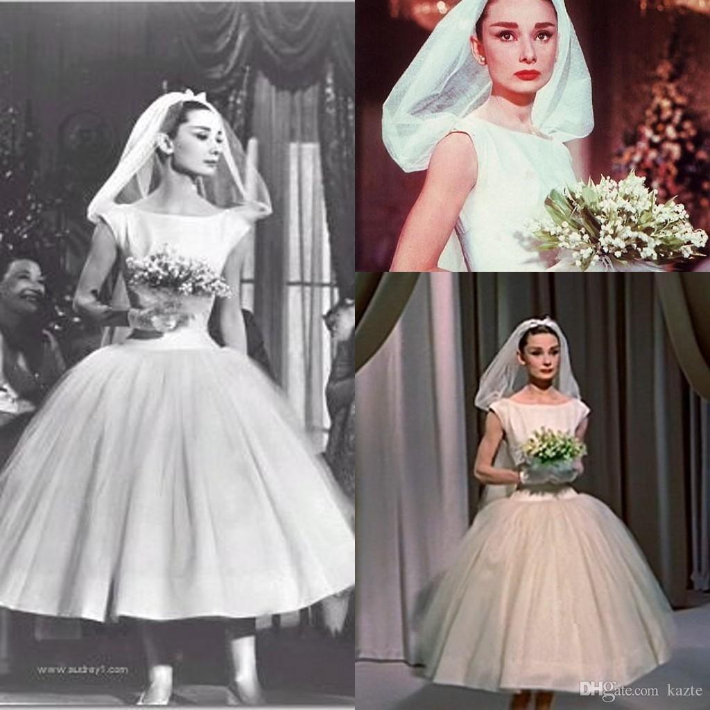 Audrey Hepburn Vintage Tealength 1950s Wedding Dresses