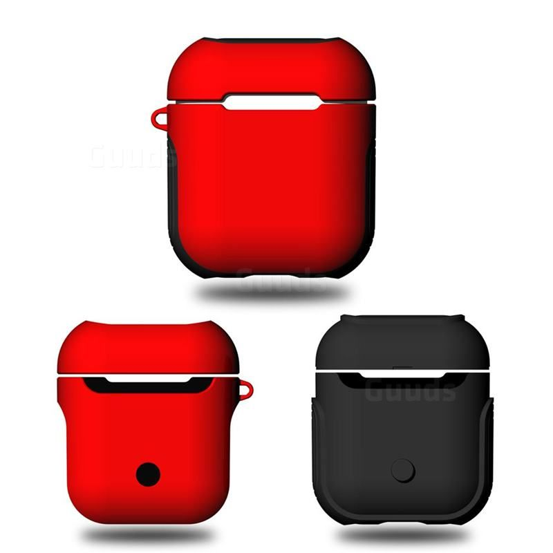 1bf3d136f0e Bink 2 in 1 Anti-fall Silicone Case for Apple AirPods - Red #guuds #apple # airpods #appleairpods #case #cover #silicone #rubber #shockproof  #airpodscase # ...