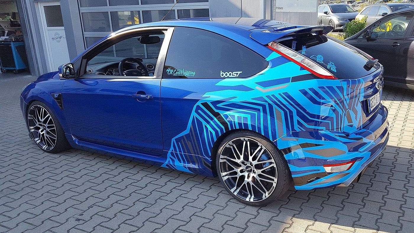 Ford Focus St Asymmetric Partial Wrap Carros Carros Esportivos