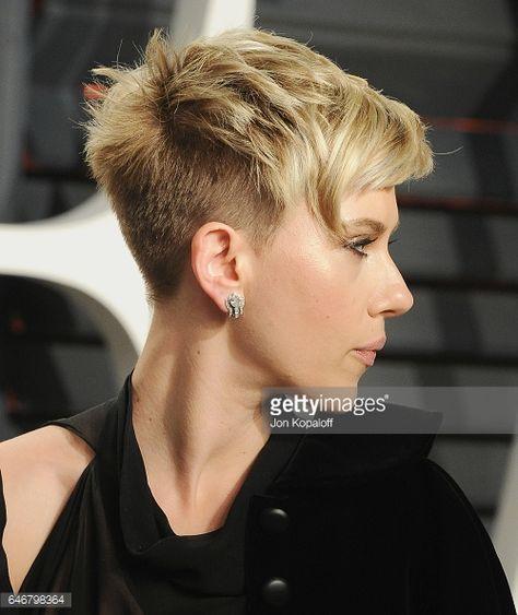 Actress Scarlett Johansson arrives at the 2017 Vanity Fair Oscar