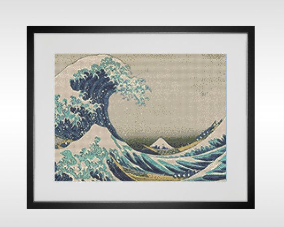 Famous Painting Cross Stitch Pattern, Painting PDF Pattern ...