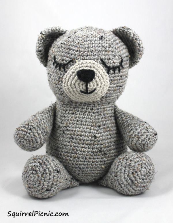 FREE!!! Sleepy Bear Crochet Pattern by Squirrel Picnic | TOYS ...