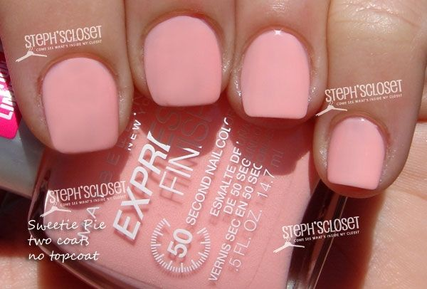 Maybelline Express Finish Nail Color Sweetie Pie Pink Peach Love